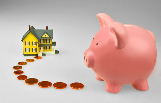 Piggybank pennies for property purchases